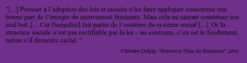 Citation Delphy sur le réformisme