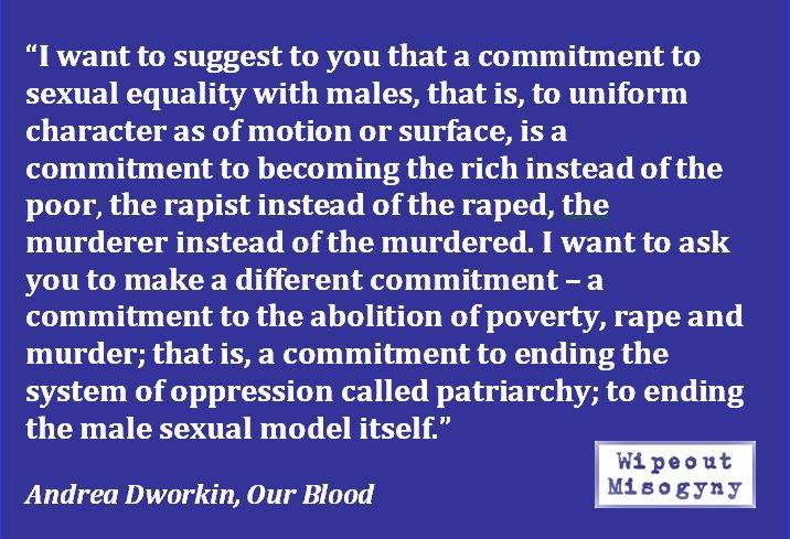 Andrea Dworkin male sexual model