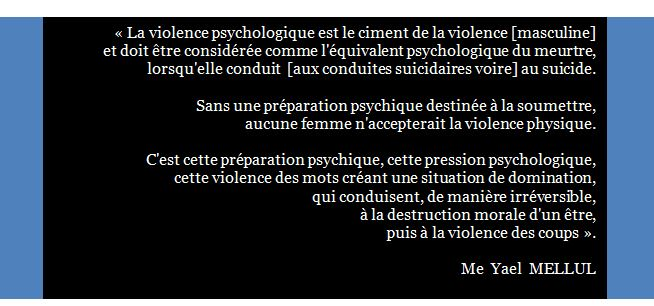 Violence psychologique, maître Mellul