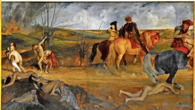 edgar degas vers 1865 - scène de guerre au moyen-âge